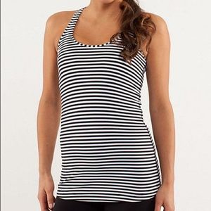 LULULEMON STRIPED TANK TOP SIZE 2